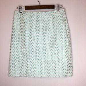 Brooks Brothers 346 Floral Eyelet Pencil Skirt